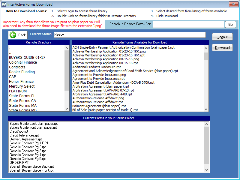 Vehicle Inventory Software