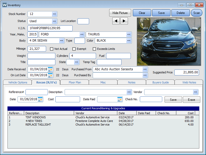 Car Dealer Inventory Management Software