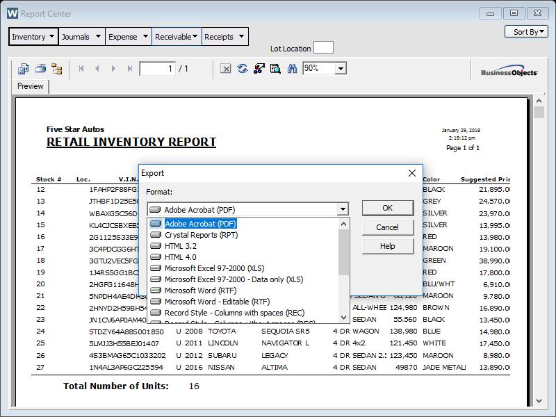 Auto Dealer Inventory Management Software